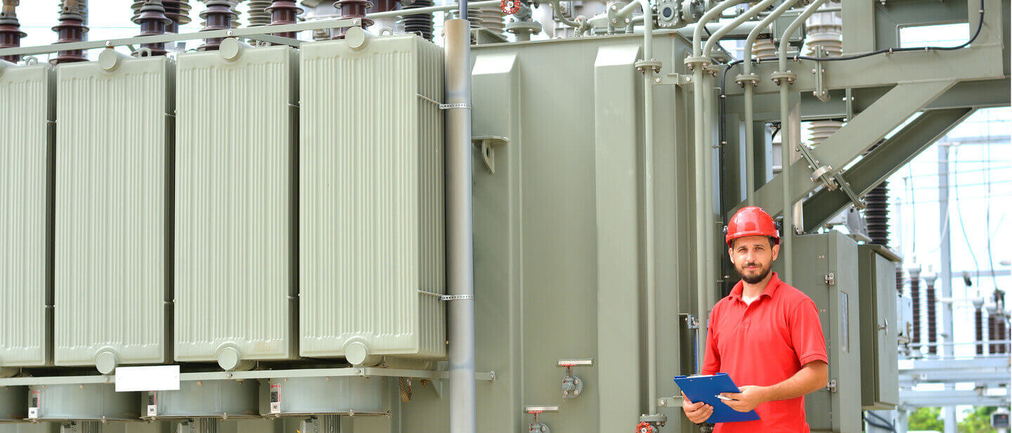 Electrician Near High Voltage Transformer